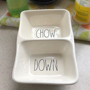 """Accessories - Rae Dunn CHOW DOWN tray New  8"""" by 5.25"""""""
